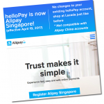 Southeast Asia Payment Platform helloPay Gains Alipay Rebrand