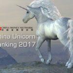 China Money Network Launches Its China Unicorn Ranking
