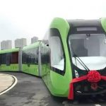 China's CRRC Unveils First Virtual-Rail Train System